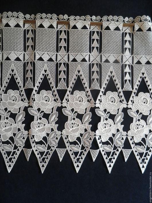 """Текстиль, ковры ручной работы. Ярмарка Мастеров - ручная работа. Купить Кружевной ламбрекен """"Летний день"""". Handmade. Белый, Макраме"""
