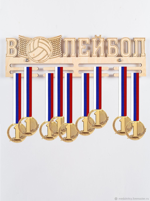 Спортивная медальница Волейбол, Спортивные сувениры, Электросталь,  Фото №1