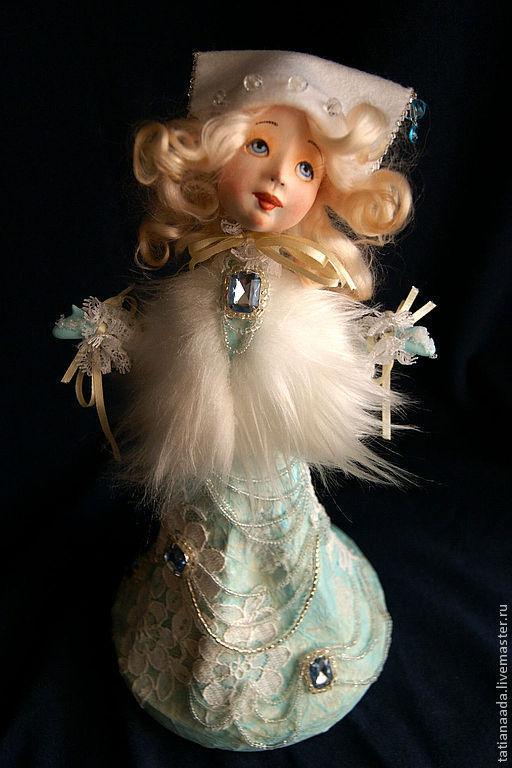 """Коллекционные куклы ручной работы. Ярмарка Мастеров - ручная работа. Купить """"Принцесска и первый снег"""". Handmade. Белый, сказка"""