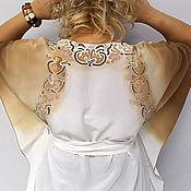 Одежда ручной работы. Ярмарка Мастеров - ручная работа Туника из натурального шелка орнамент цветочный. Handmade.