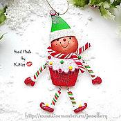 """Подарки к праздникам ручной работы. Ярмарка Мастеров - ручная работа Елочное украшение """"Gingerbread Man"""". Handmade."""