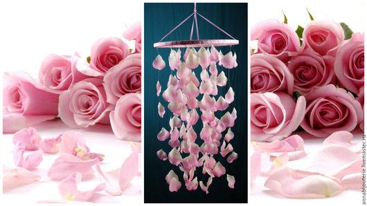 Ловцы снов ручной работы. Ярмарка Мастеров - ручная работа. Купить Rose petals Baby Mobile handmade exclusive Dreamcatcher. Handmade.