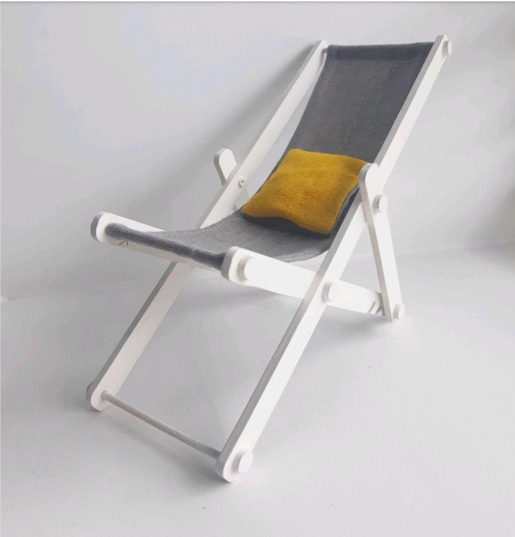 Кресло - шезлонг для барби, Мебель для кукол, Хабаровск,  Фото №1