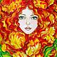 """Картины цветов ручной работы. Ярмарка Мастеров - ручная работа. Купить Картина """"Рыжая Кэт"""". Handmade. Рыжий, картина в подарок"""