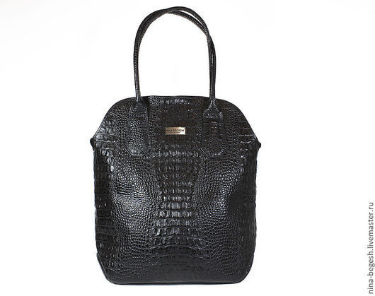 """Женские сумки ручной работы. Ярмарка Мастеров - ручная работа. Купить Сумка кожаная """"Смелая"""", черная сумка, кайман, сумка на плечо. Handmade."""