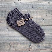 Носки ручной работы. Ярмарка Мастеров - ручная работа Вязаные носки ручной работы, носки вязаные, следки вязаные, серый. Handmade.
