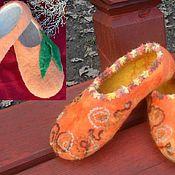 """Обувь ручной работы. Ярмарка Мастеров - ручная работа Тапотули """"Orange"""" варианты. Handmade."""