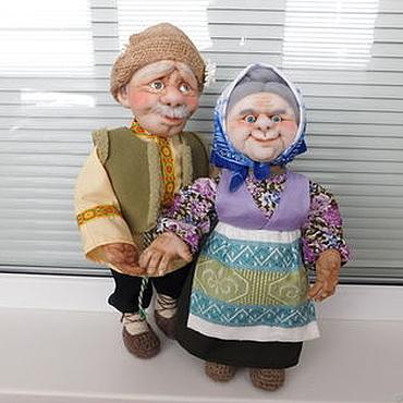 Куклы и игрушки ручной работы. Ярмарка Мастеров - ручная работа Куклы Бабушка и Дедушка. Handmade.
