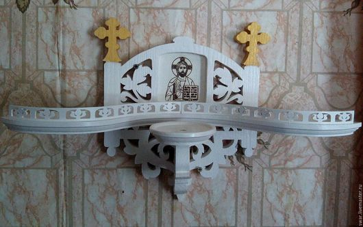 Мебель ручной работы. Ярмарка Мастеров - ручная работа. Купить полка для икон(иконостас). Handmade. Дерево, сосна