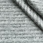 """Материалы для творчества ручной работы. Ярмарка Мастеров - ручная работа Ткань """"Ноты"""" №2. Handmade."""