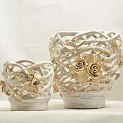 Цветы и флористика handmade. Livemaster - original item Pots Azhur. Handmade.