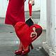 """Женские сумки ручной работы. Ярмарка Мастеров - ручная работа. Купить Сумочка """"Червовая Королева"""". Handmade. Ярко-красный"""