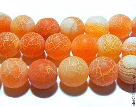 Для украшений ручной работы. Ярмарка Мастеров - ручная работа. Купить африканский агат, апельсиновый - три  размера. Handmade.