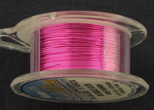 Проволока медная 0.33мм (28ga) ярко-розового цвета BEADSMITH (США)