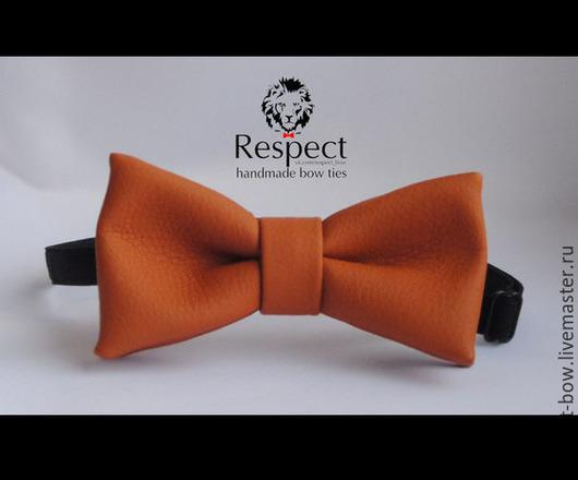Галстуки, бабочки ручной работы. Ярмарка Мастеров - ручная работа. Купить Галстук бабочка Ginger / ярко рыжая, оранжевая бабочка-галстук кожзам. Handmade.