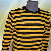 Одежда ручной работы. Ярмарка Мастеров - ручная работа Тату-свитер - Полосатый. Handmade.