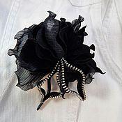 Украшения handmade. Livemaster - original item Brooch-boutonniere suede Evening rose. the decoration of leather.. Handmade.