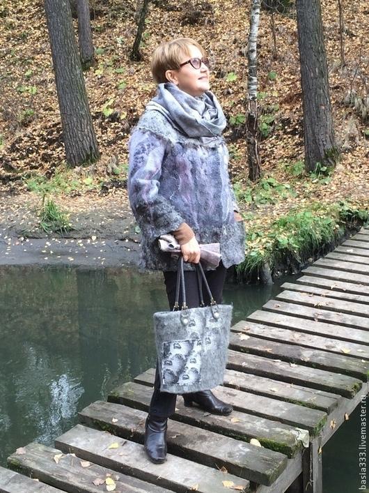 Верхняя одежда ручной работы. Ярмарка Мастеров - ручная работа. Купить Куртка Хмурая осень. Handmade. Серый, осенняя мода