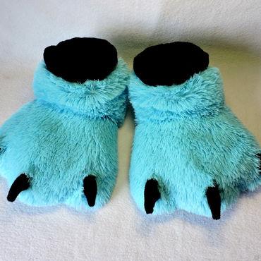 Footwear handmade. Livemaster - original item Slippers Furry paw. Handmade.