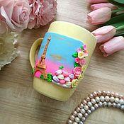 Посуда handmade. Livemaster - original item Mug France. Handmade.
