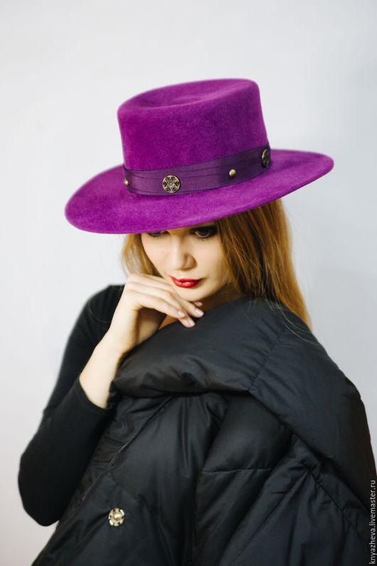 """Шляпы ручной работы. Ярмарка Мастеров - ручная работа. Купить Шляпа  """" Роскошная сирень """". Handmade. Фиолетовый, велюр"""