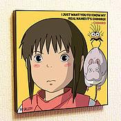 Картины и панно handmade. Livemaster - original item The Picture Is Spirited Away Pop Art. Handmade.