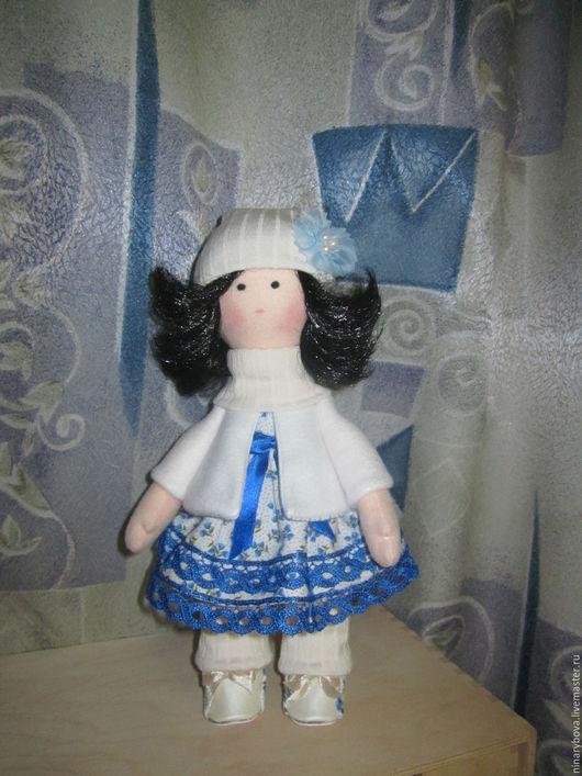 Коллекционные куклы ручной работы. Ярмарка Мастеров - ручная работа. Купить Куколка Наденька. Handmade. Васильковый, купить куклу, флис