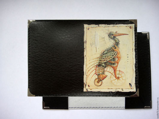 """Обложки ручной работы. Ярмарка Мастеров - ручная работа. Купить обложка на паспорт """"Ибис"""". Handmade. Подарок, обложка на паспорт"""