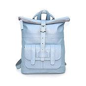 Сумки и аксессуары handmade. Livemaster - original item Backpacks: Leather bag backpack women`s blue Aliz Mod SR33-171-1. Handmade.