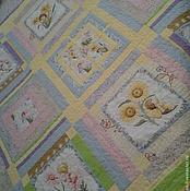 """Для дома и интерьера ручной работы. Ярмарка Мастеров - ручная работа Лоскутное одеяло """"Феи цветов"""". Handmade."""