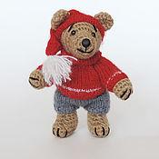 Куклы и игрушки ручной работы. Ярмарка Мастеров - ручная работа Мишка в красном колпачке. Handmade.