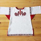 Одежда handmade. Livemaster - original item Children`s shirt with embroidery