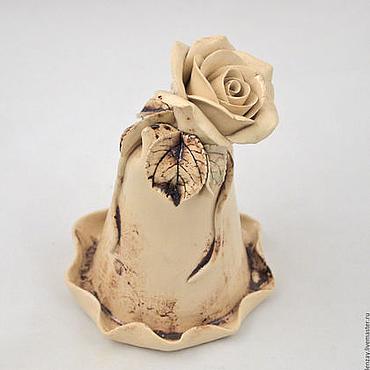 Сувениры и подарки ручной работы. Ярмарка Мастеров - ручная работа Колокольчик Роза в сепии. Handmade.