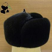 Аксессуары handmade. Livemaster - original item Hat with ear-flaps from fur of the European mink. Selemeneva. Handmade.