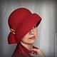 """Шляпы ручной работы. Дамская шляпка """" Рas de deux красной орхидеи"""". Ирина Спасская.. Ярмарка Мастеров."""