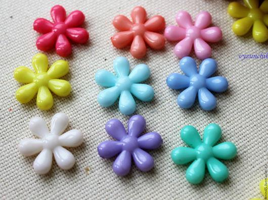 Для украшений ручной работы. Ярмарка Мастеров - ручная работа. Купить Бусины цветочки. Handmade. Бусины, пастельные цвета