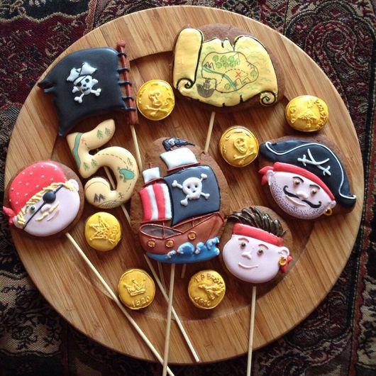 Кулинарные сувениры ручной работы. Ярмарка Мастеров - ручная работа. Купить Пряники для Украшения торта топперы. Handmade. Разноцветный