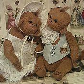 Куклы и игрушки ручной работы. Ярмарка Мастеров - ручная работа обезьянки тедди  в стиле тартюр. Handmade.