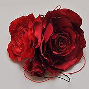 Цветы и флористика ручной работы. Ярмарка Мастеров - ручная работа Композиция из двух роз и бутона. Handmade.