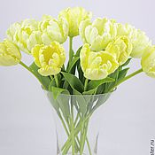 Цветы и флористика ручной работы. Ярмарка Мастеров - ручная работа Желтые тюльпаны из полимерной глины. Handmade.