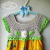 Работы для детей, ручной работы. Ярмарка Мастеров - ручная работа платье для девочки Бабочки. Handmade.