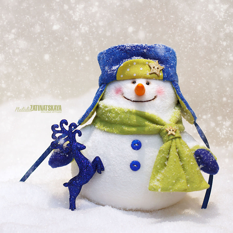 Мягкая игрушка снеговик. Новогодний подарок, Снеговики, Москва,  Фото №1