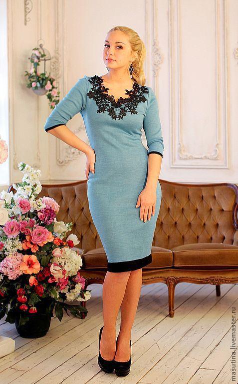 """Платья ручной работы. Ярмарка Мастеров - ручная работа. Купить Платье """"Blue sky"""". Handmade. Голубой, нежное платье"""