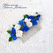 Украшения handmade. Livemaster - original item Hair comb with flowers. Decorating with flowers.. Handmade.
