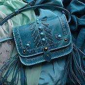 """Сумки и аксессуары handmade. Livemaster - original item Leather bag """"BLUE LAGOON"""". Handmade."""