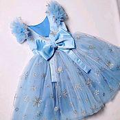 Платья ручной работы. Ярмарка Мастеров - ручная работа Платье снежинка. Handmade.
