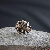 Сувениры и подарки handmade. Livemaster - original item Bead for paracord Rhino ,lanyard bead. Handmade.