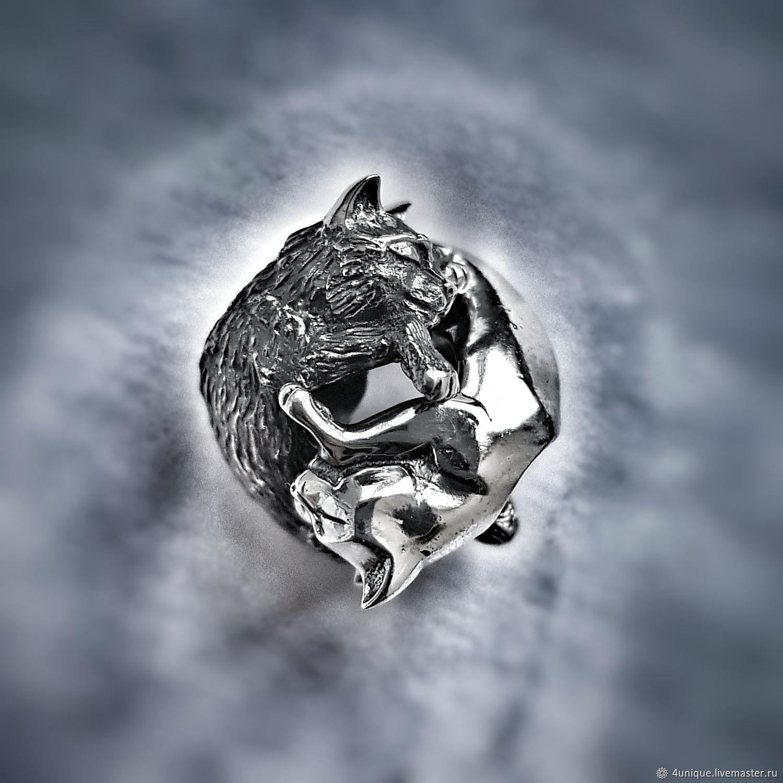"Double bead ""Moon cats"", Pendants, St. Petersburg,  Фото №1"