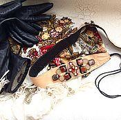 Аксессуары ручной работы. Ярмарка Мастеров - ручная работа Пояс вышитый , натуральная кожа. Handmade.