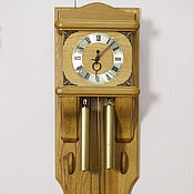 Винтаж ручной работы. Ярмарка Мастеров - ручная работа Часы настенные деревянные Дубовые огромные корпус ручной работы штучны. Handmade.
